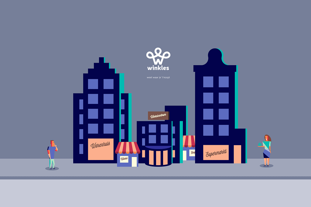 winkles illustratie city